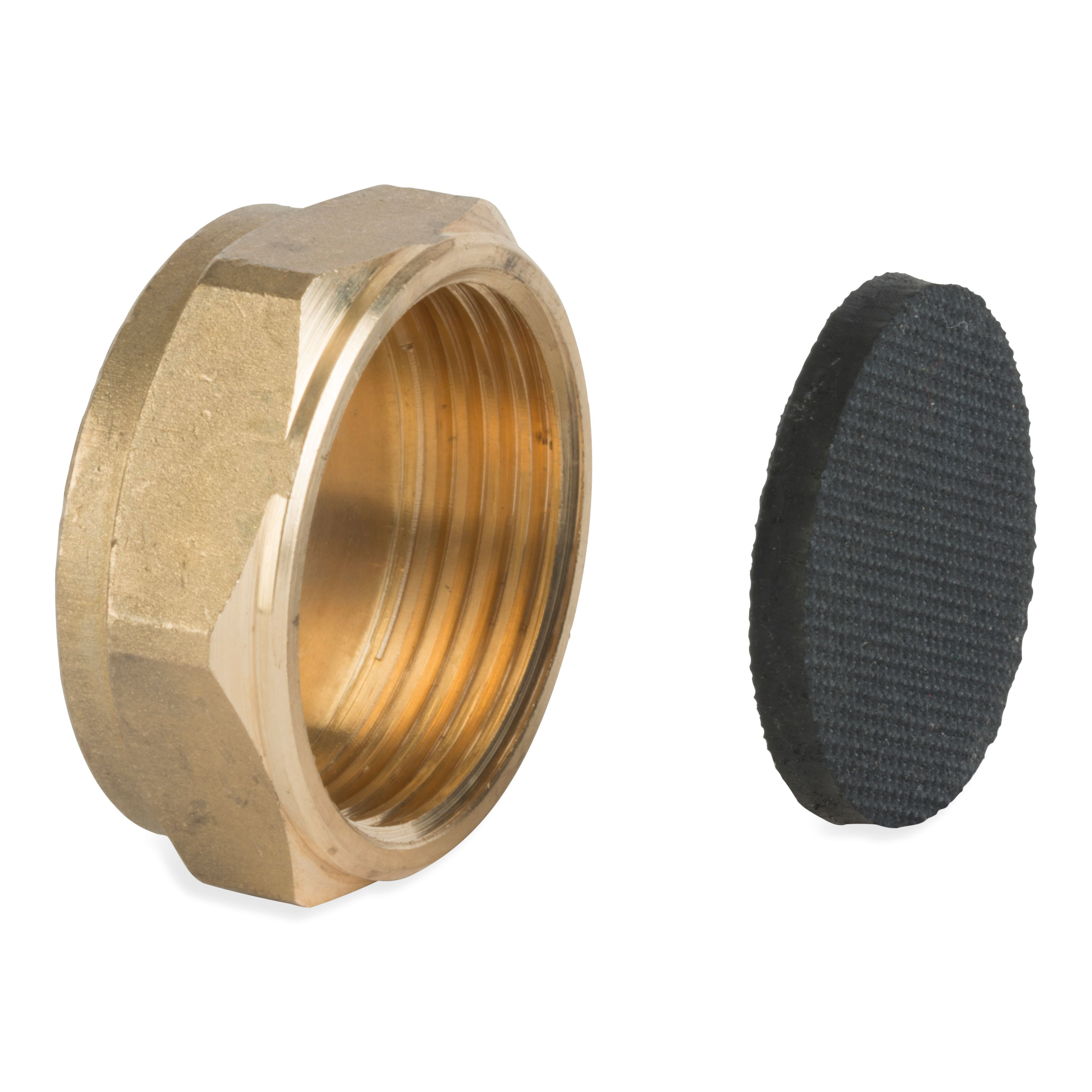 Product P163BW, BLANK NUT WITH WASHER