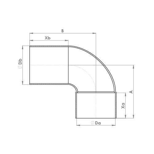 5092 Schematic - End Feed Street Elbow