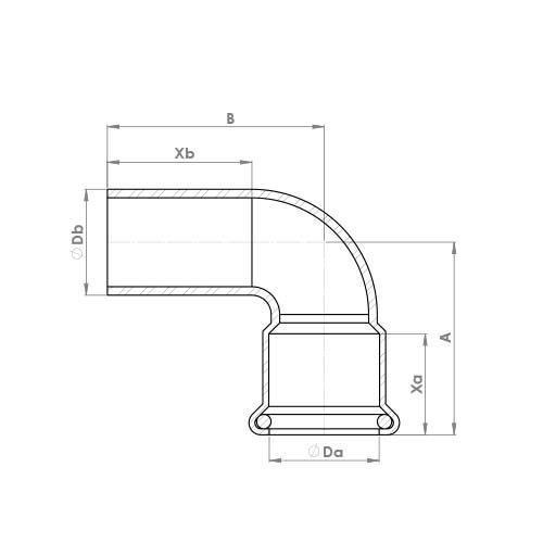 6092M Schematic - Copper Press Street Elbow