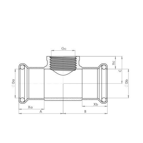 6130GM Schematic - Copper Press Female Tee