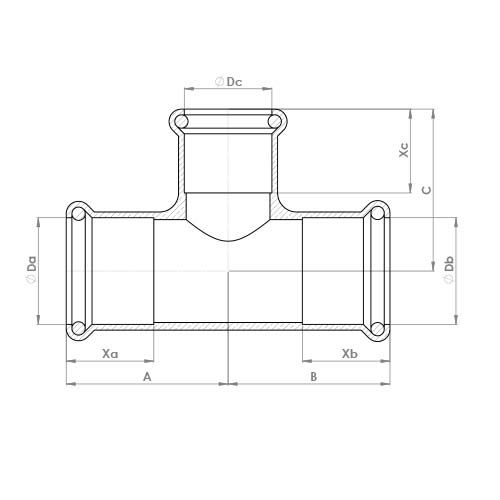 6130RM Schematic - Copper Press Reduced Tee