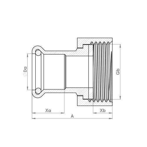 6240GM Schematic - Copper Press Swivel Connector
