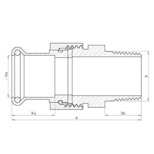 6341GM Schematic - Copper Press Male Union