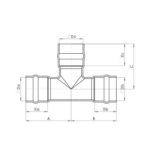 C701SR Schematic - Solder Ring Equal Tee