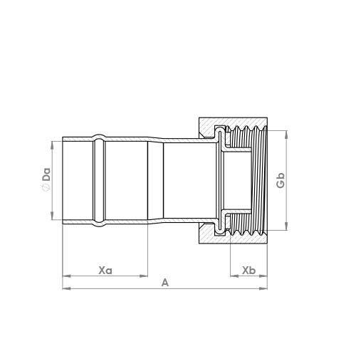 C903SFSR Schematic - Solder Ring Straight Tap Connector