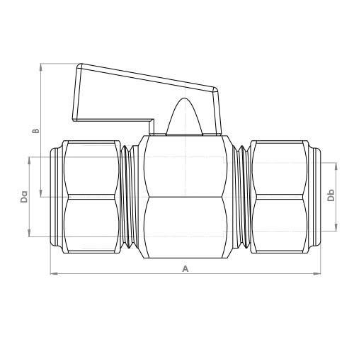 FCP4372CP Schematic - Black Handle Mini Ball Compression Valve DZR