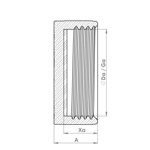 P163B Schematic - Blank Nut With Washer