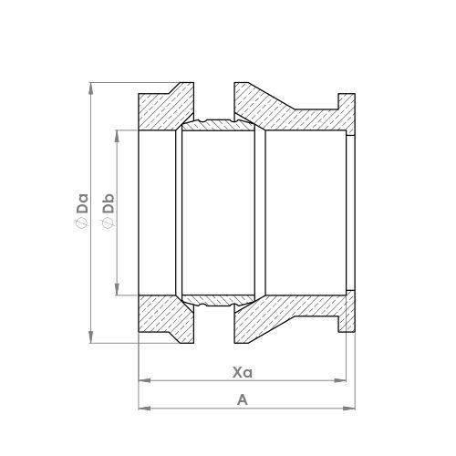 P168DR Schematic - DZR Three Piece Reducing Set