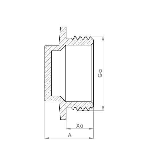 P179 Schematic - Flanged Plug