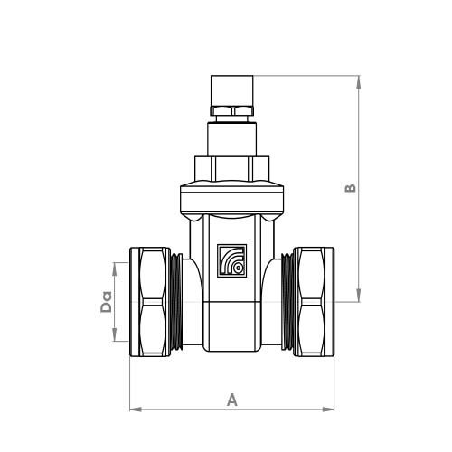 P474LS Schematic - Lockshield Compression Gate Valve