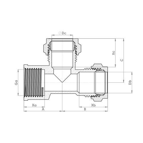 P737 Schematic - Compression Female End Tee
