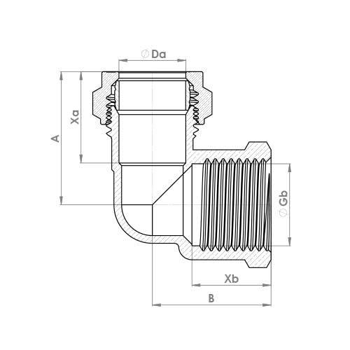 P803 Schematic - Compression Female Elbow