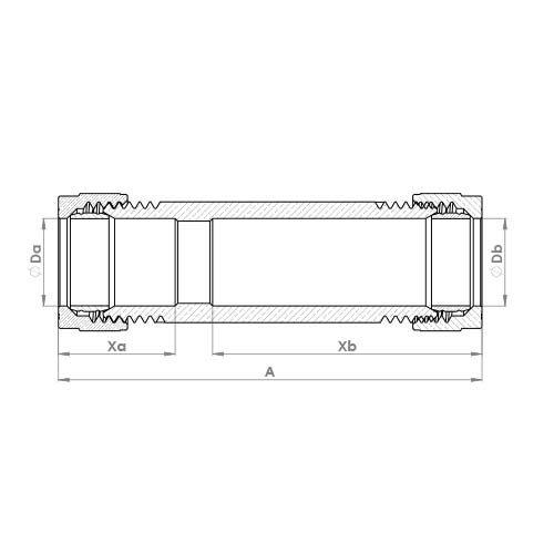 P901RP Schematic - Compression Repair Coupling