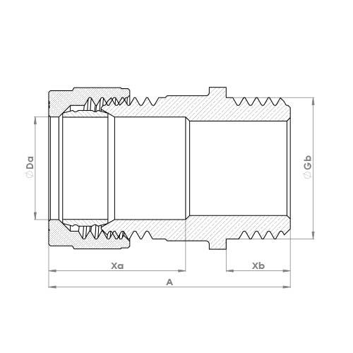 P902CP Schematic - Chrome Plated Compression Male Adaptor