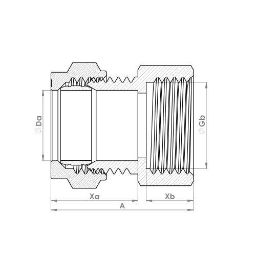 P903ST Schematic - Compression Female Short Thread