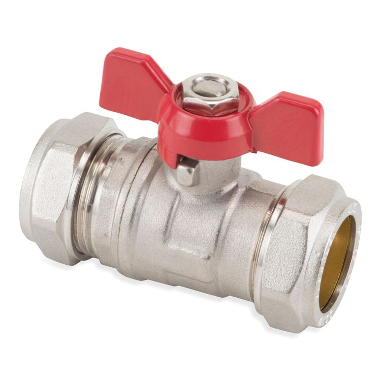 611 Image - Butterfly Handle Compression Ball Valve