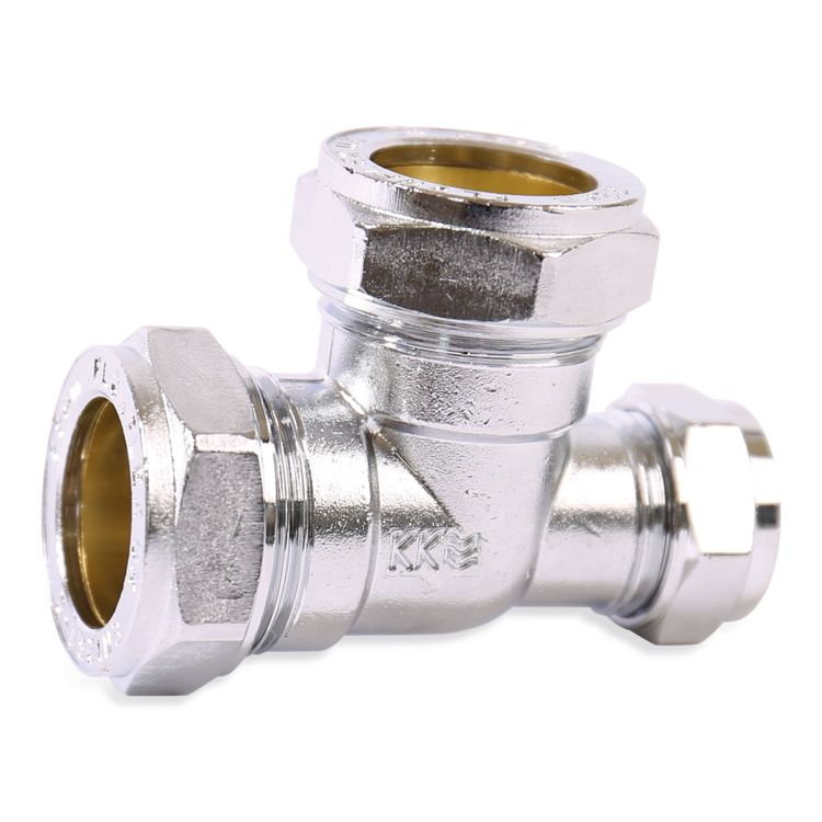 P703CP Image - Chrome Plated Compression Reduced End Tee