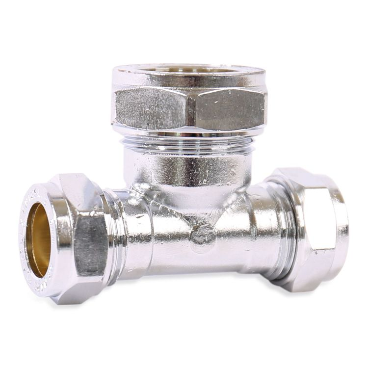 P705CP Image - Chrome Plated Compression Reduced Both Ends Tee