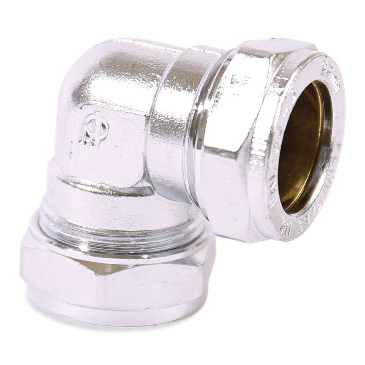 P801CP Image - Chrome Plated Compression Equal & Reduced Elbow