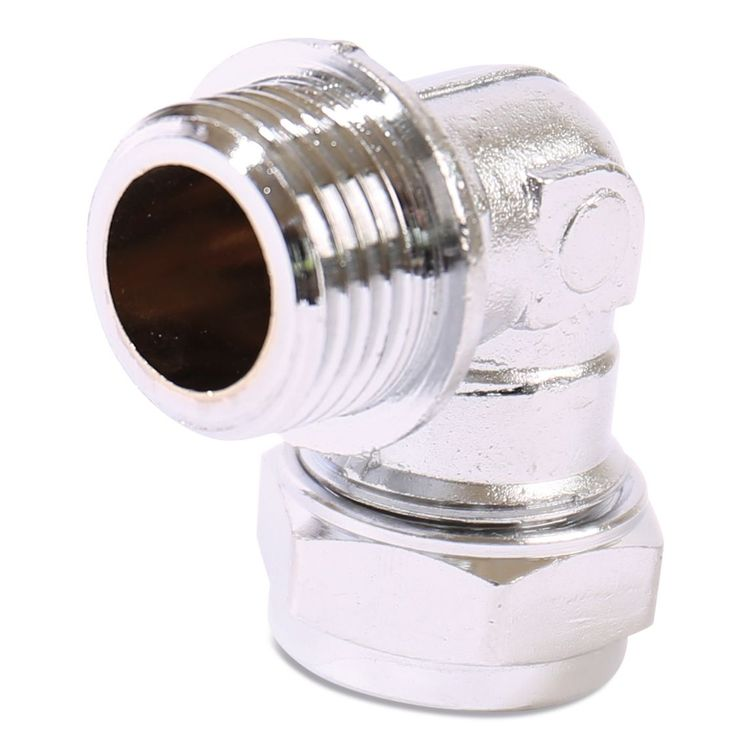 P802CP Image - Chrome Plated Compression Male Elbow