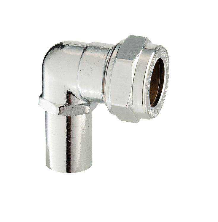P802MI Image - Chrome Plated Compression Swivel Elbow