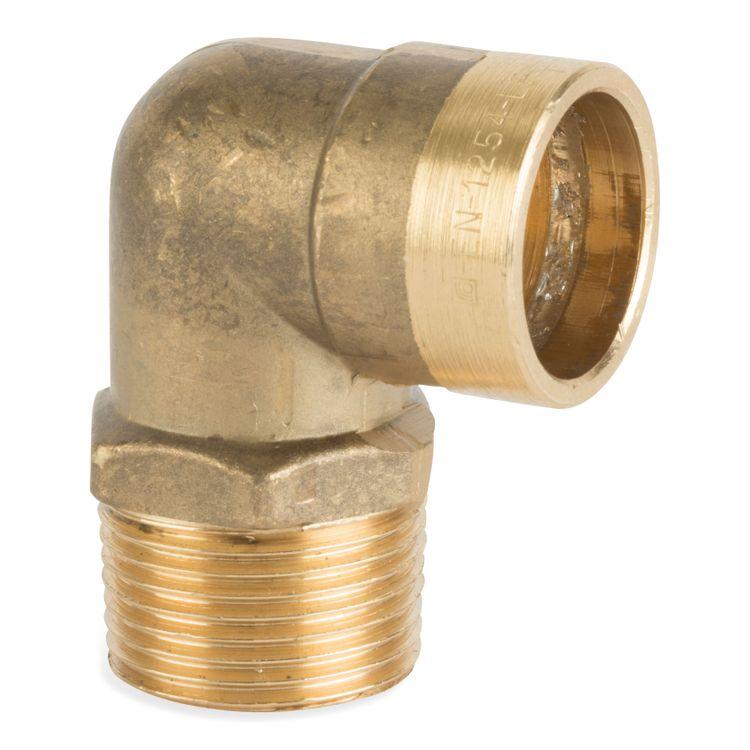 P802TDRSR Image - Compression Solder Ring Male Elbow