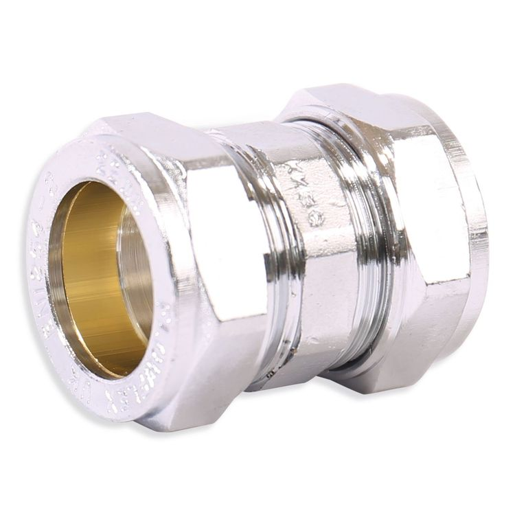 P901CP Image - Chrome Plated Compression Straight & Reduced Coupling