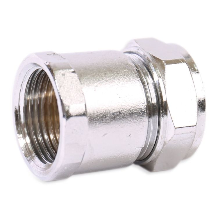 P903CP Image - Chrome Plated Compression Female Adaptor