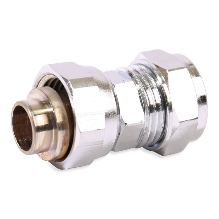 P903SFCP Image - Chrome Plated Compression Straight Swivel Tap Connector
